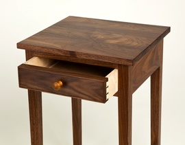 Walnut Side Table with drawer